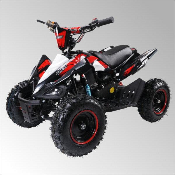 最新大口径6インチ仕様!前後ディスクブレーキ50ccMINI 四輪バギー最高速度 45km/h赤色トリプルサス仕様
