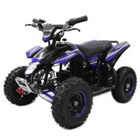 ポケバイ 4輪ATV バギー最新1000W前後ディスクブレーキMINI 四輪バギー最高速度 40km/h ブルー トリプルサス仕様 バック走行も可能ポケバイATV バギー 乗用玩具