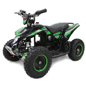 ポケバイ 4輪ATV バギー最新1000W前後ディスクブレーキMINI 四輪バギー最高速度 40km/h グリーン トリプルサス仕様 バック走行も可能ポケバイATV バギー 乗用玩具