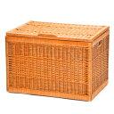 ラッセル 収納ボックス No.8F BR 良質ラタン 大型収納ボックス(ふた付き) 容量約90L 収納 かご バスケット 収納バスケ…