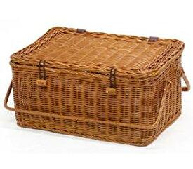 ラッセル 収納ボックス No.569 ピクニックバスケット 良質ラタン 容量約12L インドネシアラタン 籐かごバスケット