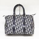 【中古】Dior ディオール ミニボストンバッグ トロッター ボストンバッグ バッグ ハンドバッグ キャンバス×レザー …