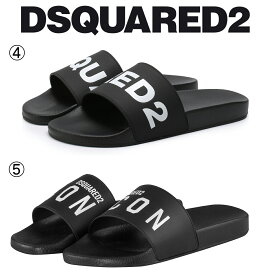 4/5 DSQUARED2 ディースクエアード ブラック ラバー サンダル シャワーサンダル FFM0101/FFM0016 17200001 M063