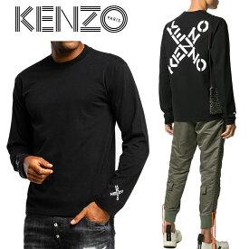 1 KENZO ケンゾー FA65TS1504SK ブラック Sport Big X ロゴ プリント 長袖Tシャツ ロンT