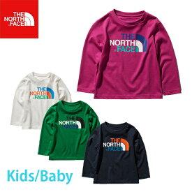 ノースフェイス ロンT キッズ THE NORTH FACE L/S COLORFUL LOG T ロングスリーブカラフルロゴティー(キッズ/ベビー) NTJ31990 長袖 Tシャツ