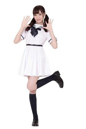 コスプレ女子校生セーラー服白ホワイトリボンコスプレ衣装下層清楚系スカートフレア定番レディース女子