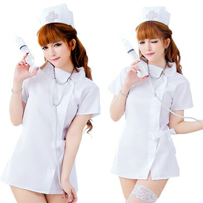 コスプレ コスプレ ナース ナース服 衣装 制服 ナース帽 看護婦 コスチューム 白衣の天使 本格 清楚なホワイトナースさん