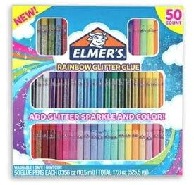 エルマー 「グリッターグルーペン50本セット」 ELMER'S Rainbow Glitter Glue /3Dペン