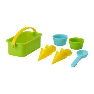 IKEA沙子遊戲玩具的冰激凌安排10分(茶杯/圓錐/冰伺服器/籃球)沙子遊戲/冰激凌店鋪宜家