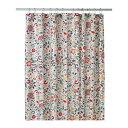 IKEA AKERKULLA フラワー/マルチカラー【シャワーカーテン】180×200cm 大型/たっぷりサイズ/バスカーテン/お風呂
