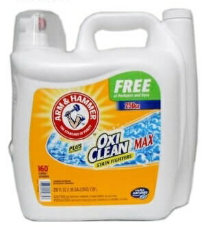 アームアンドハンマー 液体洗濯洗剤 プラス オキシクリーン マックス 7.39L 無香料・無着色 約160回分 アーム&ハンマー+オキシクリーン しみに強い!