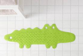 IKEA【PATRULL】 バスタブマット クロコダイル グリーン ワニ型滑り止めマット 浴室用/わに