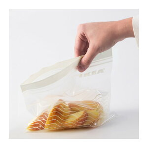 IKEAおしゃれなストックバック●2サイズ50枚入り●フリーザーバック/プラスチック袋●イケア