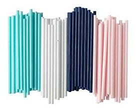 IKEA 【太いタイプ】カラフルストロー100本セット/ライトブルー・ピンク・ホワイト・ネイビーの4色です。蛍光色/イケア/SOTVATTEN