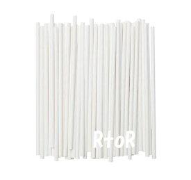 IKEA 【FORNYANDE】紙製ストロー ホワイト 100本セット イケア