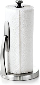 OXO ステンレス製 ペーパータオルホルダー SoftWorks【Simply Tear Paper Towel Holder】 キッチンペーパー/オクソー/コストコ
