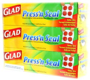 【送料無料】【GLAD/グラッド】 Press'n Seal プレス&シール 多用途シールラップ 幅 30cmX長さ 43.4m お買い得3個セット マジックラップ/3本
