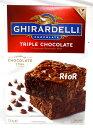 Ghirardelli 【ブラウニーミックス Triple Chocolate BROWNY MIX】2.26kg(565g×4袋入り)かんたん混ぜるだけ!ギラデ…