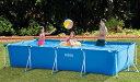 【送料無料】INTEX 【長方形フレームプール】 カバー付き 4.5m×2.2m 家庭用プール レクタングラーフレームセット/…
