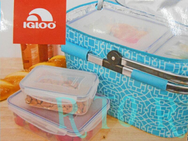 IGLOO パーティバスケット クーラーバッグ+フードコンテナー4個(フタ付き)セット イグルー