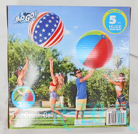 H2OGO! 特大 ビーチボール 直径約152cm 2個セット BESTWAY