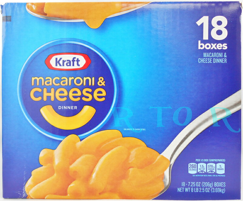 Kraft マカロニ&チーズ ディナー チージスト オリジナルフレーバー 206g×18箱セット クラフトマカロニチーズ