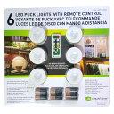capstone ワイヤレスLEDライト 6個セット リモートコントロール 屋内用