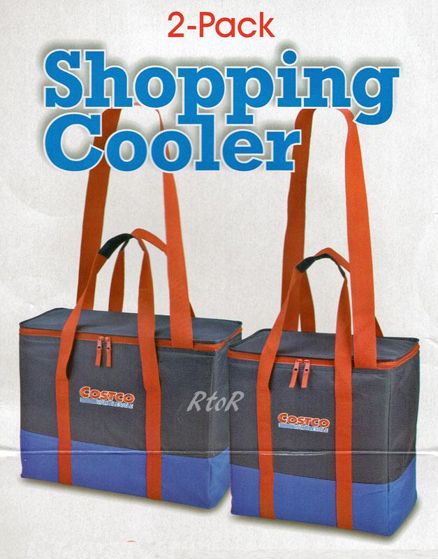 【2個セット】costcoコストコ クーラーバッグ/ネイビー/大型トートバッグ 2サイズ(54L+42L) エコバッグ/保冷保温ショッピングバッグ