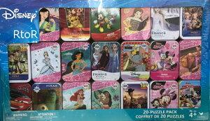 ディズニー ミニパズル 20種類/ティン缶入り パズルセット