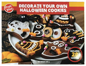 ハロウィン チョコクッキーキット アイシング・飾り付き♪20枚/総重量885g/Decorate your own HALLOWEEN COOKIES ※賞味期限2020年8月12日まで。