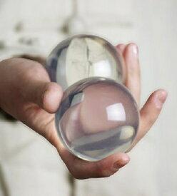 マジック ジャグリング 軽量 透明球 クリスタル ボール (60mm*2個セット) 手品 パーティー 大道芸人