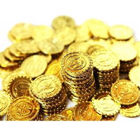 海賊アイテム ゴールド コイン おもちゃ(金貨 100枚)パイレーツ お宝 財宝 宝探し