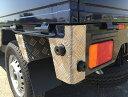 DA16T用 スズキ キャリイ リアコーナーカバー アルミ縞板