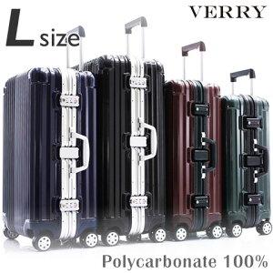 スーツケース L サイズ 高級PC100%ボディ 大型 高品質 ワイドフレーム ダブルキャスター ダイヤルロック TSA スーツケース キャリーケース キャリーバッグ ハードキャリー ブランド 人気 おす