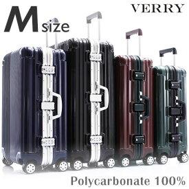 スーツケース M サイズ 高級PC100%ボディ 中型 高品質 ワイドフレーム ダブルキャスター ダイヤルロック TSA スーツケース キャリーケース キャリーバッグ ハードキャリー ブランド Suitcase 送料無料 あす楽対応