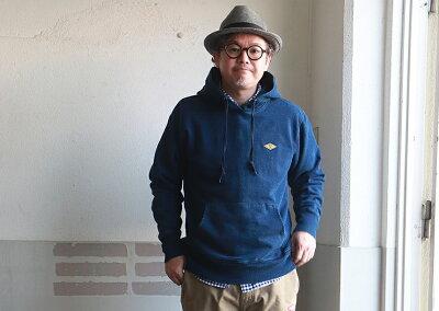 BILLVAN藍インディゴ染めヘビースウェットプルパーカービルバンアメカジ
