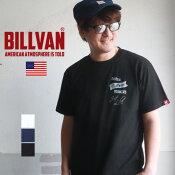 BILLVANヘビーウェイト・コットン丸胴ボディーREALWORKERSプリントTシャツビルバンアメカジ