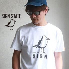 SIGN STATE ヘビーボディ Cool Gulls 定番プリント Tシャツ サインステート アメカジ サーフ メンズ アメカジ