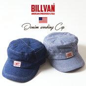 BILLVAN復刻版デニム&ヒッコリー・アメリカンワークキャップビルバンメンズアメカジ