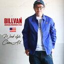 【スーパーSALE】BILLVAN 高密度ツイル・カバーオール ワークジャケット・ ビルバン アメカジ メンズ