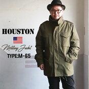 HOUSTONウォームライナー付きM-65フィールドジャケットヘビーコットンヒューストンミリタリーアメカジメンズ
