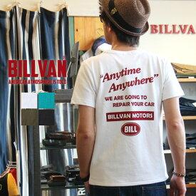 Tシャツ BILLVAN ロゴ ビルバンモーターズ 両面プリントTシャツ 300310 ビルバン メンズ アメカジ