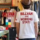 アメカジ Tシャツ BILLVAN ビルバン アメカジプリント半袖Tシャツ WORKING 726A メンズ ヘビーウェイトTシャツ