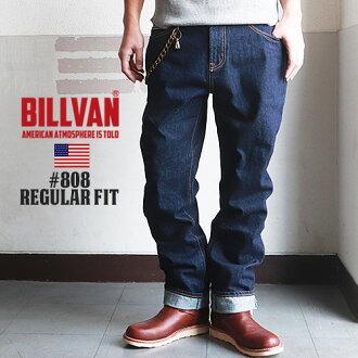 模型 BILLVAN #808 定期直接一洗牛仔布扭动牛仔裤男士休闲