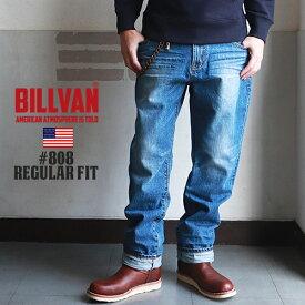 BILLVAN #808 レギュラーストレート ヴィンテージ加工 デニムパンツ LT/INDIGO ビルバン ジーンズ メンズ アメカジ