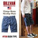 ショートパンツ BILLVAN 708 ブッシュ ストライプ ショート デニムパンツ ビルバン ジーンズ メンズ アメカジ