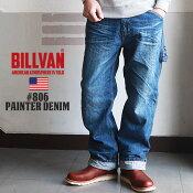 BILLVAN#806ヴィンテージ加工ペインターデニムパンツビルバンジーンズメンズアメカジ