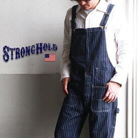 【ポイント10倍】【送料無料】 オーバーオール メンズ STRONG HOLD ヴィンテージワークスタイル ウォバッシュ オーバーオール ストロングホールド アメカジ
