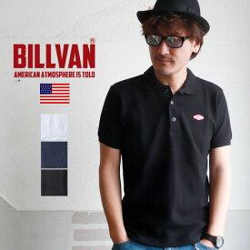 ポロシャツ BILLVAN ダイヤロゴワッペン ヘビー鹿の子ポロシャツ ビルバン メンズ アメカジ
