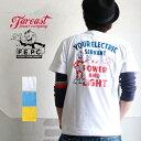 クリックポスト Tシャツ FAR EAST POWER COMPANY アメカジYOUR ELECTRICバックプリントTシャツ FEPC0003 メンズ アメカジ